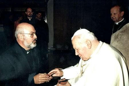 Fr. Clark and St. John Paul II