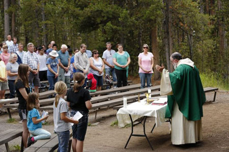 Outdoor Mass at Canyon Amphitheater