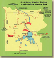 Yellowstone Map. Click image to enlarge. 92K